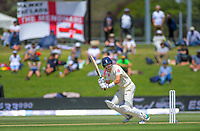England's Joe Denley bats during day one of the international cricket 1st test match between NZ Black Caps and England at Bay Oval in Mount Maunganui, New Zealand on Thursday, 21 November 2019. Photo: Dave Lintott / lintottphoto.co.nz