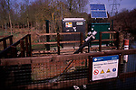 A912X3 River flow monitoring station River Deben near Wickham Market Suffolk England