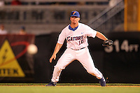 "Florida Gators Austin Maddox #10 during a game vs. the Florida State Seminoles in the ""Florida Four"" at George M. Steinbrenner Field in Tampa, Florida;  March 1, 2011.  Florida State defeated Florida 5-3.  Photo By Mike Janes/Four Seam Images"