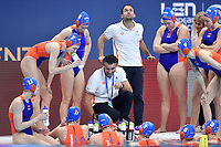 HAVENGA Arno coach Netherlands NED time out <br /> Budapest 13/01/2020 Duna Arena <br /> GERMANY (white caps) Vs. NETHERLANDS (blue caps)<br /> XXXIV LEN European Water Polo Championships 2020<br /> Photo  © Andrea Staccioli / Deepbluemedia / Insidefoto