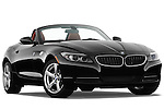 Low aggressive passenger side front three quarter view of a 2009 BMW Z4 3.0i.