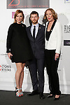 Nathalie Poza, Alvaro Cervantes and Susi Sanchez attend the `Union de actores Awards´ ceremony in Madrid, Spain. March 14, 2016. (ALTERPHOTOS/Victor Blanco)