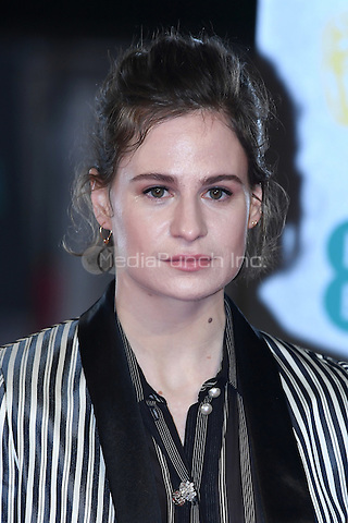 LONDON, ENGLAND - FEBRUARY 12: Heloise Letissier also known by her stage name Christine and the Queens Findlay attends the 70th EE British Academy Film Awards (BAFTA) at Royal Albert Hall on February 12, 2017 in London, England.<br /> CAP/BEL<br /> &copy;BEL/Capital Pictures /MediaPunch ***NORTH AND SOUTH AMERICAS ONLY***