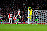 Lukasz Fabianski of Swansea City  makes a save during the Barclays Premier League match between Arsenal and Swansea City at the Emirates Stadium, London, UK, Wednesday 02 March 2016