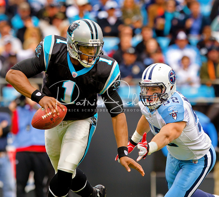 The Carolina Panthers vs. Tennesse Titians at Bank of America Stadium in Charlotte, North Carolina...Photos by: Patrick Schneider Photo.com