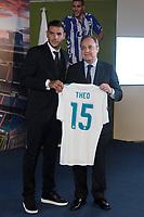 Theo Hernandez and Real Madrid Football Club President, Florentino Perez