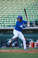 AZL Cubs 1 Pedro Martinez (11) at bat during an Arizona League game against the AZL Padres 1 on July 5, 2019 at Sloan Park in Mesa, Arizona. The AZL Cubs 1 defeated the AZL Padres 1 9-3. (Zachary Lucy/Four Seam Images)