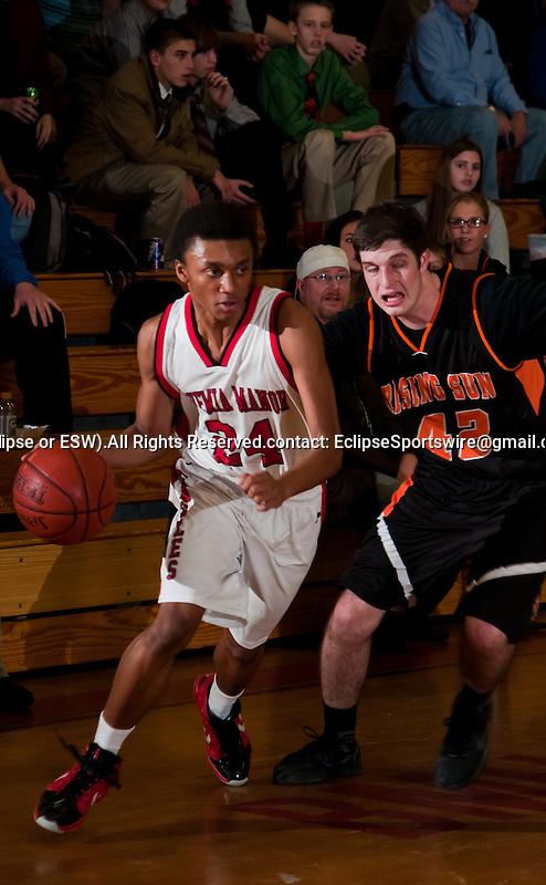 Scenes from the Rising Sun versus Bohemia Manor High School boys's basketball game at Bohemia Manor High School on January 13, 2012