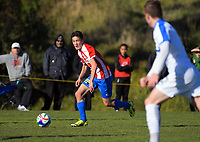 Action from the Chatham Cup football match between Western Suburbs and Bay Olympic at Endeavour Park in Wellington, New Zealand on Sunday, 5 August 2017. Photo: Dave Lintott / lintottphoto.co.nz