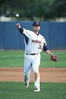 Nick Costello (30) of the Pepperdine Waves makes a throw during a game against the Texas A&M Aggies at Eddy D. Field Stadium on February 26, 2016 in Malibu, California. Pepperdine defeated Texas A&M, 7-5. (Larry Goren/Four Seam Images)