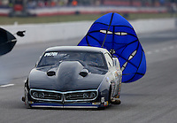 May 15, 2015; Commerce, GA, USA; NHRA pro mod driver Clint Satterfield  during qualifying for the Southern Nationals at Atlanta Dragway. Mandatory Credit: Mark J. Rebilas-USA TODAY Sports