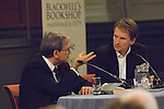 Orhan Pamuk, Nobel-prize-winning Turkish novelist talks to Jason Cowley at the Sheldonian Theatre, during the FT Weekend Oxford Literary Festival, Oxford, UK. Saturday 29 March 2014. <br />