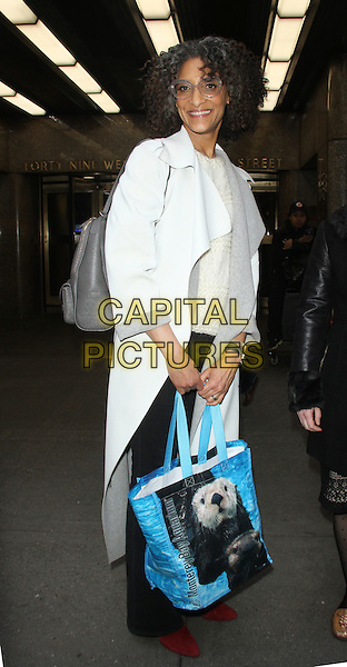 NEW YORK, NY - DECEMBER 18: Carla Hall seen after an appearance on The Meredith Vieira Show in New York City on December 18, 2015.  <br /> CAP/MPI/RW<br /> &copy;RWMPI/Capital Pictures