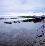 Seascape with grey clouds, Westness coast, Papa Westray, Orkney Islands, Scotland