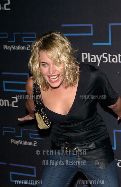 Actress/model REBECCA ROMIJN-STAMOS at one-year anniversary party, in Los Angeles, for the Sony Playstation  2..18OCT2001. © Paul Smith/Featureflash