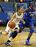 Nevada's MorningRose Tobey and Air Force's Dee Bennett battle in a women's basketball game in Reno, Nev., on Saturday, Jan. 9, 2016. Nevada won 68-57.<br /> Photo by Cathleen Allison