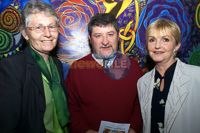 Eileen Aiken, Tommy and Gerri Healy pictured at the Ardee CC art exhibition at Bru na Boinne..Picture: Arthur Carron/Newsfile