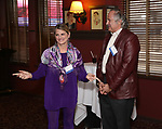 Bonnie Comley and Stewart F. Lane  at the UMass Lowel Cockail Party for 'Sunset Boulevard' hosted by Chancellor Jacquie Moloney, Bonnie Comley and Stewart F. Lane at Sardi's on April 5, 2017 in New York City