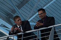 War on Everyone (2016) <br /> Alexander Skarsgard (&quot;Terry Monroe,&quot; left) and Michael Pena (&quot;Bob Bolano,&quot; right) <br /> *Filmstill - Editorial Use Only*<br /> CAP/FB<br /> Image supplied by Capital Pictures