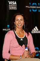 American Record holder in the Pole Vault Jenn Stuczynski at the press conference for the 101st. MILLROSE GAMES that will be held at Madison Square Garden on Friday, February 3rd. 2008. Photo by Errol Anderson,TheSporting Image..