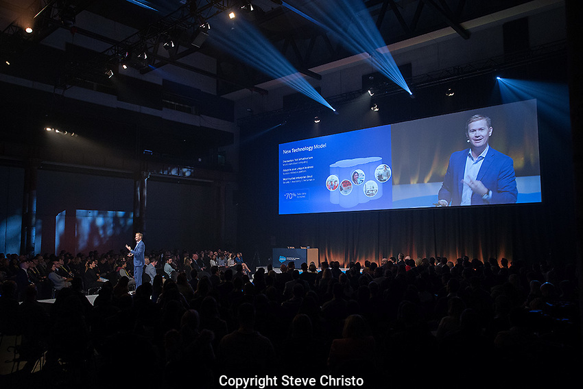 Salesforce conference at Carriageworks.  on Wednesday, 24th of August  2016, Sydney, Australia (Photo: Steve Christo)