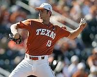 Texas Longhorns P Brandon Belt during the 2008 season. Photo by Andrew Woolley / Four Seam Images.