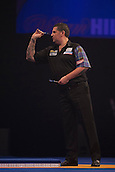 01.01.2014.  London, England.  William Hill PDC World Darts Championship.  Quarter Final Round.  Gary Anderson (4) [SCO] in action during his game with Peter Wright (5) [SCO]