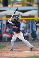 Tampa Yankees shortstop Jorge Mateo (14) at bat during a game against the Lakeland Flying Tigers on April 7, 2016 at Henley Field in Lakeland, Florida.  Tampa defeated Lakeland 9-2.  (Mike Janes/Four Seam Images)