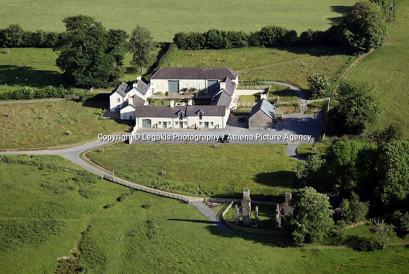 The property of Prince Charles and Camilla Duchess of Cornwall near the village of Myddfai.<br /> Re: Aerial view of Wales. Sunday 14 June 2009<br /> Picture by D Legakis Photography / Athena Picture Agency, 24 Belgrave Court, Swansea, SA1 4PY, 07815441513