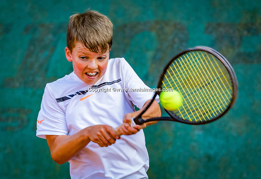 Hilversum, Netherlands, August 6, 2018, National Junior Championships, NJK, Jip Mens (NED)<br /> Photo: Tennisimages/Henk Koster