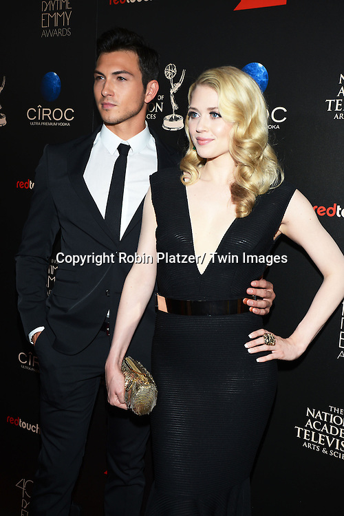 Robert Scott Wilson and Brooke Newton attends The 40th Annual Daytime Emmy Awards on<br />  June 16, 2013 at the Beverly Hilton Hotel in Beverly Hills, California.