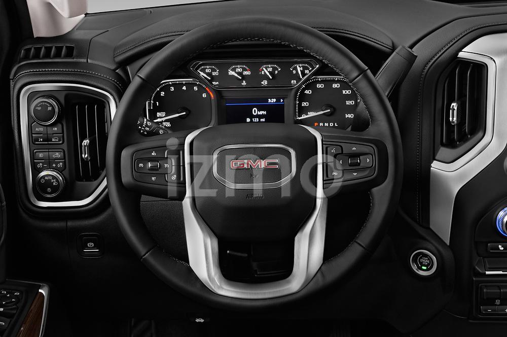 Car pictures of steering wheel view of a 2019 GMC Sierra-1500 Elevation 4 Door Pickup Steering Wheel