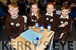 Gaelscoil Mhic Easmann NS taking part in the Cara Credit Union School Quiz in the I T Tralee on Sunday.L to r: Sean Og O'Connor, Eileen Ní hEachthigheirn, Dáithí Ó Buachalla and Jack O Coileán