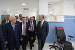 Palestinian President Mahmoud Abbas attends the opening ceremony of opening the cancer department in the Advisory Hospital, in the West Bank city of Ramallah, April 9, 2019. Photo by Thaer Ganaim