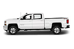 Car driver side profile view of a 2018 Chevrolet Silverado 2500HD LT 4WD Crew Cab 4 Door Pick Up