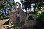 The 10th century Byzantine chapel of Agios Stefanos, Drakona, Crete, Greece