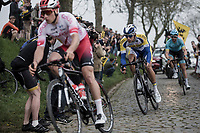 Kenneth Van Rooy (BEL/Sport Vlaanderen Baloise) riding the cobbles of the Paddestraat in the early break away group. <br /> <br /> 103rd Ronde van Vlaanderen 2019<br /> One day race from Antwerp to Oudenaarde (BEL/270km)<br /> <br /> ©kramon