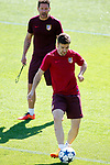 Atletico de Madrid's coach Diego Pablo Cholo Simeone with Gabi Fernandez during training session. April 11,2017.(ALTERPHOTOS/Acero)
