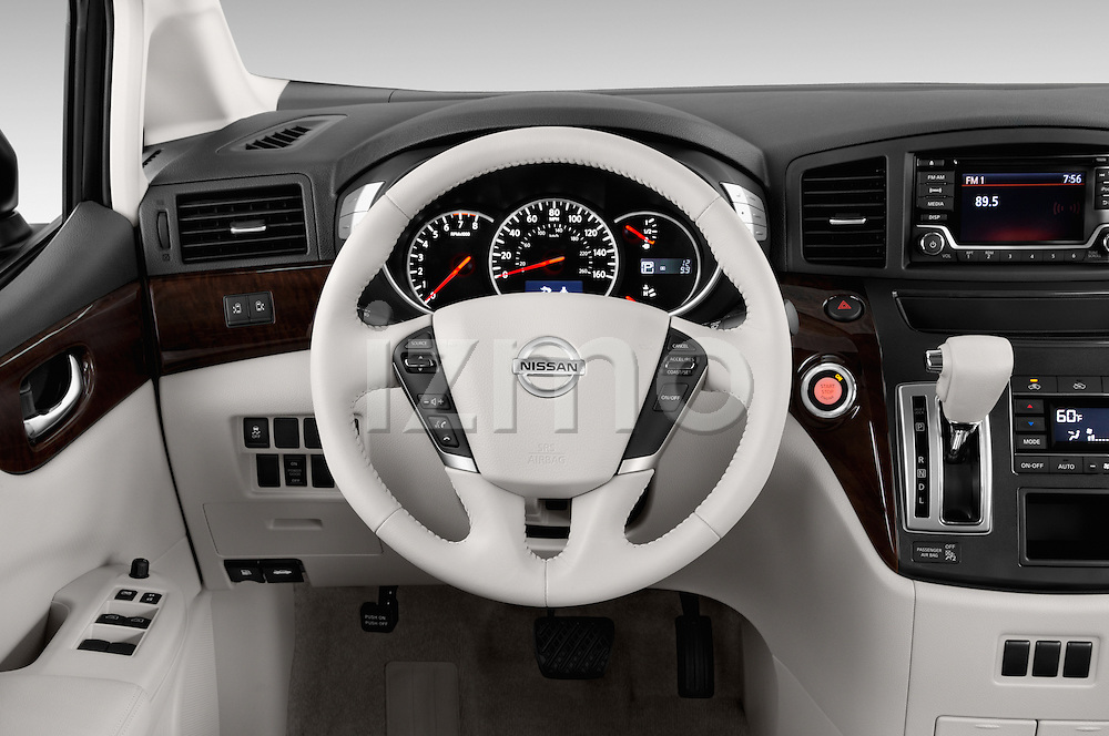 Car pictures of steering wheel view of a2015 Nissan Quest SV 5 Door Minivan Steering Wheel