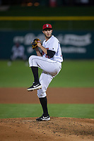 Indianapolis Indians relief pitcher Dovydas Neverauskas (30) during an International League game against the Columbus Clippers on April 29, 2019 at Victory Field in Indianapolis, Indiana. Indianapolis defeated Columbus 5-3. (Zachary Lucy/Four Seam Images)