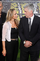Real Madrid's new coach Carlo Ancelotti with his girlfriend during his official presentation. June 26, 2013. (ALTERPHOTOS/Acero) .<br />