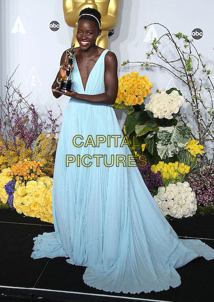 02 March 2014 - Hollywood, California - Lupita Nyong'o. 86th Annual Academy Awards held at the Dolby Theatre at Hollywood &amp; Highland Center. <br /> <br /> CAP/ADM/RE<br /> &copy;Russ Elliot/AdMedia/Capital Pictures