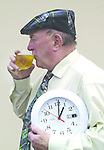 Drinkin'up time should be 1am says South Kerry TD Jackie Healy-Rae who intends to oppose the new drinking laws being brought before the Dail by his county colleague Minister for Justice John o'Donoghue..Picture by Don MacMonagle Jackie Healy-Rae, TD from the book by Don MacMonagle entitled 'Jackie - Keeping Up Appearances' published in 2002.
