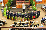 Scenes from the National Museum of Racing Hall of Fame ceremony (current HOF members) on August 03, 2018 at the Fasig-Tipton Sales Pavilion in Saratoga Springs, New York. (Bob Mayberger/Eclipse Sportswire)