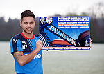 Harry Forrester promoting the Rangers game on Sunday