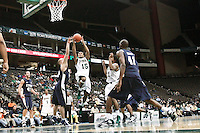 January 15, 2011:    Atlantic Sun conference basketball action between the Jacksonville Dolphins and East Tennessee State University Buccaneers at Veterans Memorial Arena in Jacksonville, Florida.  ETSU defeated Jacksonville 74-62.