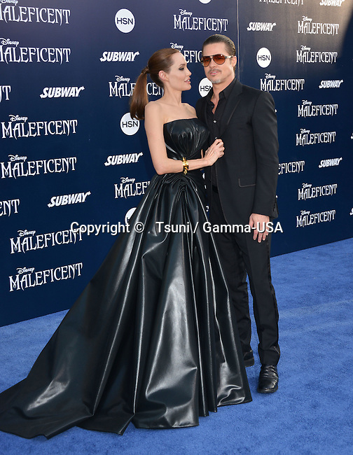 Angelina Jolie and Brad Pitt 169 at the Maleficent Premiere at the El Capitan Theatre in Los Angeles.