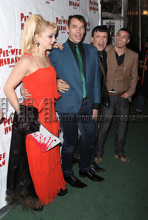 Basil Twist & Joey Arias with Guests. at the After Party for the Opening Night Performance of the Pee-Wee Herman Show at The Bryant Park Grill  in New York City.