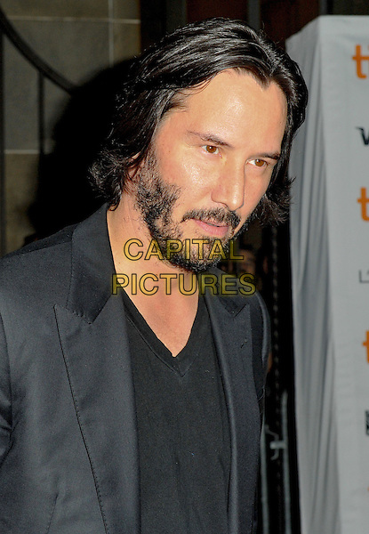 Keanu Reeves<br /> &quot;Man Of Tai Chi&quot; Premiere - 2013 Toronto International Film Festival held at Ryerson Theatre, Toronto, Ontario, Canada.<br /> September 10th, 2013<br /> headshot portrait black suit jacket top beard facial hair<br /> CAP/ADM/BPC<br /> &copy;Brent Perniac/AdMedia/Capital Pictures