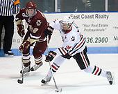 Brian Dumoulin (BC - 2), Tyler McNeely (NU - 94) - The Northeastern University Huskies defeated the Boston College Eagles 3-2 on Friday, February 19, 2010, at Matthews Arena in Boston, Massachusetts.